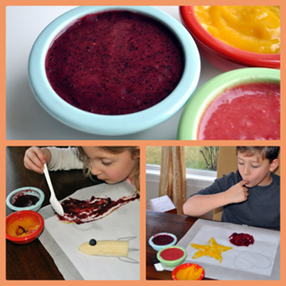 healthy edible finger paint for kids